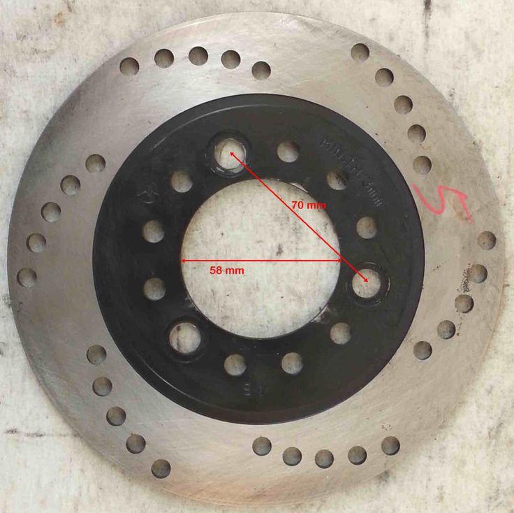 DISCO FRENO D.est.180 D.int.58 sp.4 mm distanza viti 70 mm  KIMCO PEUGEOT