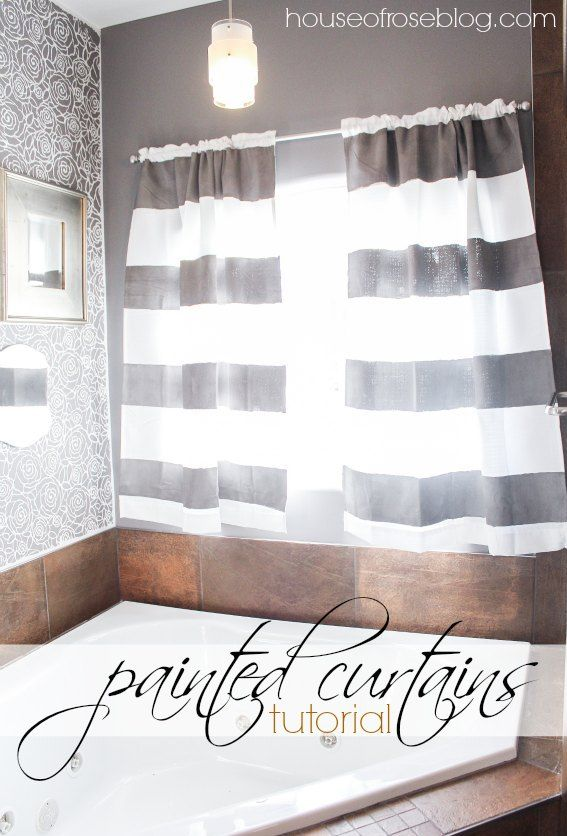 painted curtains how to paint cheap curtains and make them pretty with stripes