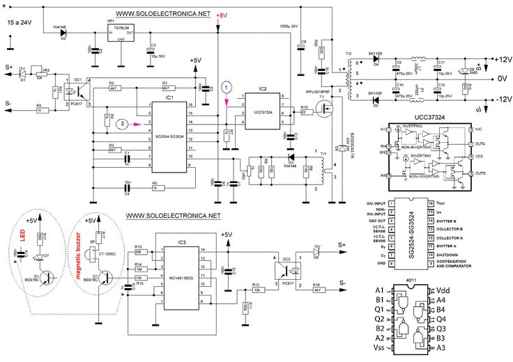 uln2004 water level indicator circuit design electronic project