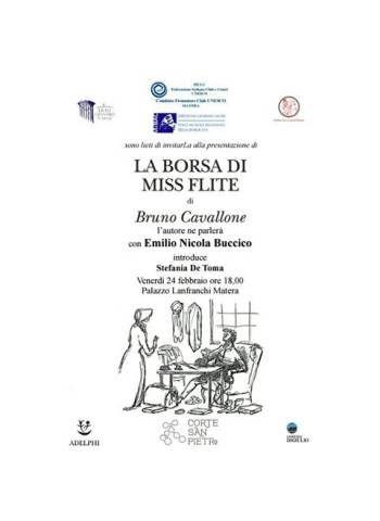 """Matera. Presentazione del libro """"La borsa di Miss Flite"""", di Bruno Cavallone"""