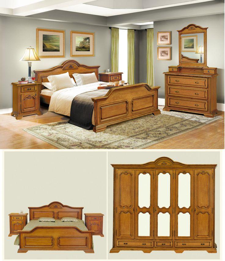 Mobila / Mobilier Dormitor clasic lemn Claudia stejar | RON0.00 | #mobilena.ro