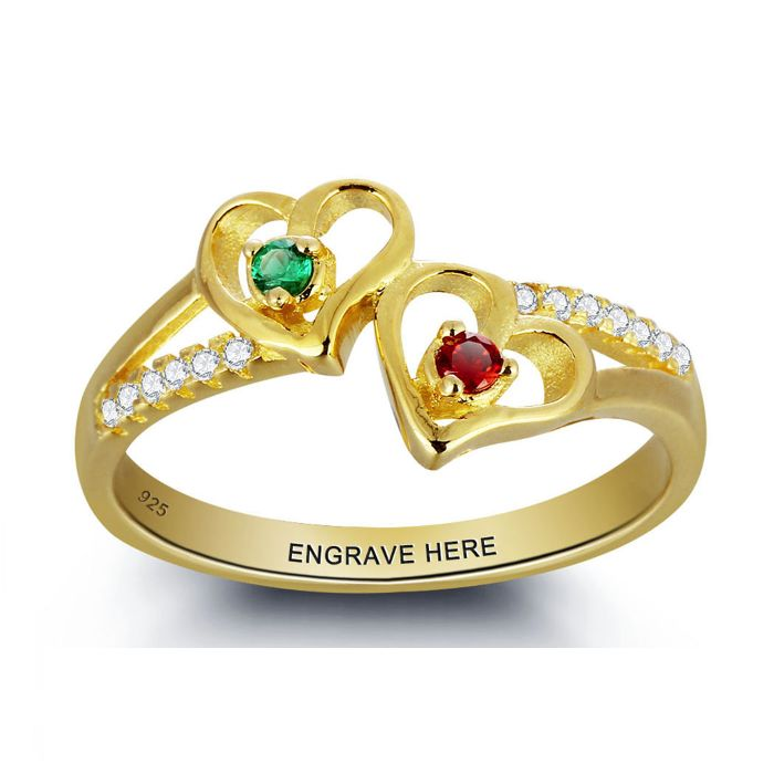 Discount Voucher Special!! >>> ENTER CODE: SUMMER AT CHECKOUT & SAVE FOR EACH AND EVERY ITEM IN OUR SPECIALS CATALOGUE! .... Specials items may be time limited so get yours quick! ....  2 Hearts Together - 18K G/Plated 925 Sterling Silver Ring