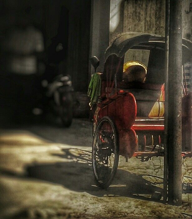 Parking Lot #becak #indonesia #vehicle