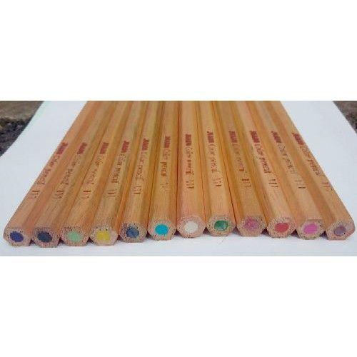 Vastag, hatszögletű, natúr, 12 darabos színes ceruza készlet - Színes ceruzák Ft Ár 1,149
