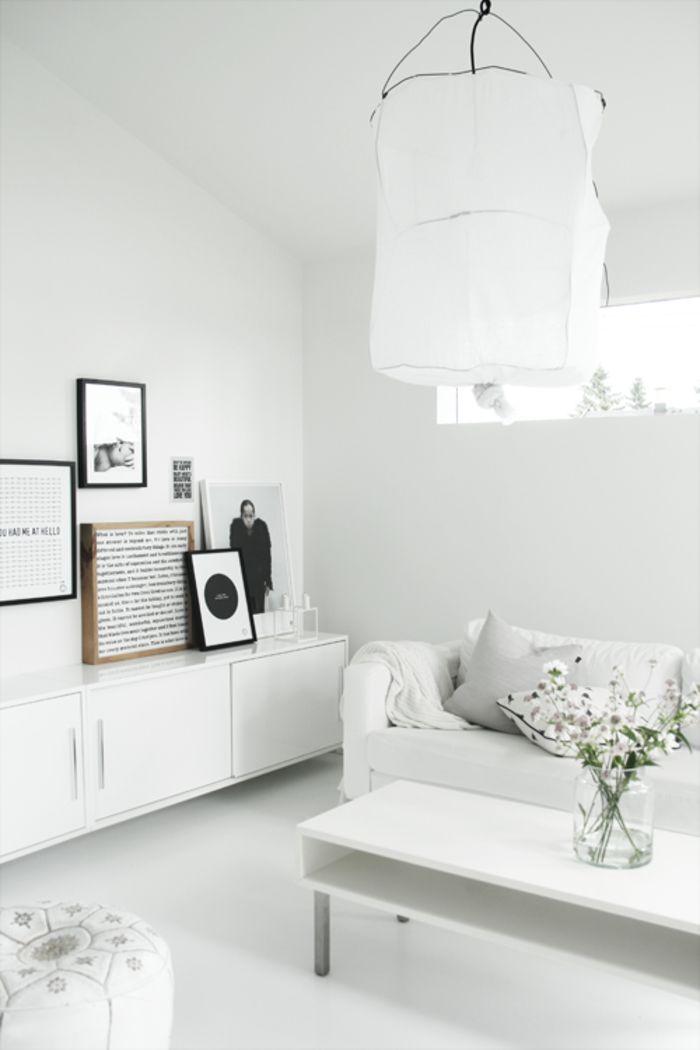 en iyi 10 fikir, wandfarbe weiß pinterest'te   lampe weiß ...