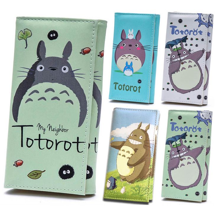 Women Wallets PU Leather Lady Handbags Cartoon Totoro Students Wallet Cards Holder Woman Clutch Hasp Coin Purse Girls Money Bags
