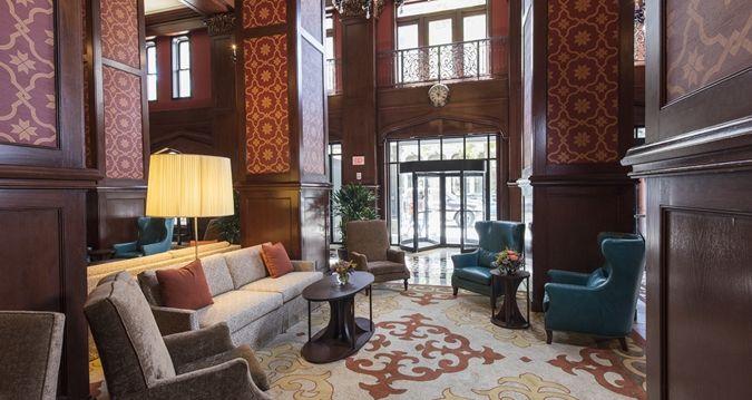 The Skirvin Hilton Oklahoma City Hotel, OK - Lobby Seating Area | OK 73102