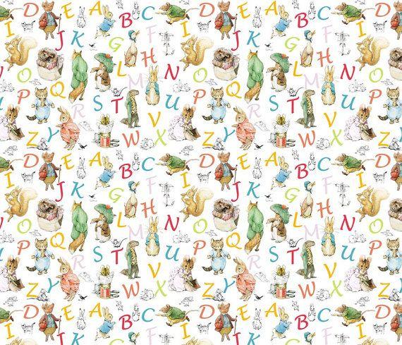 Beatrix Potter Wallpaper Alphabet Wallpaper And Decals