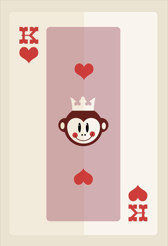The King. From CHAN75 Playing Cards by Christopher Anderton 2014. #playingcard #playingcards #card #game #monkeyking #sunwukung #sunwukong #kungmarkatta #apkungen #spelkort #kort #illustration #carddesign #graphicdesign #chan75 #christopheranderton #deluxive #deluxivestate