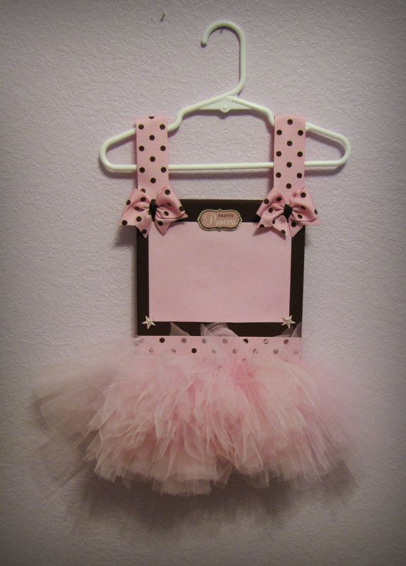 Pink and Brown Tutu Picture Frame on Etsy, $40.00
