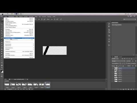 [How To] Photoshop CS6 - GIF Animation Erstellen [HD]-[German] - YouTube