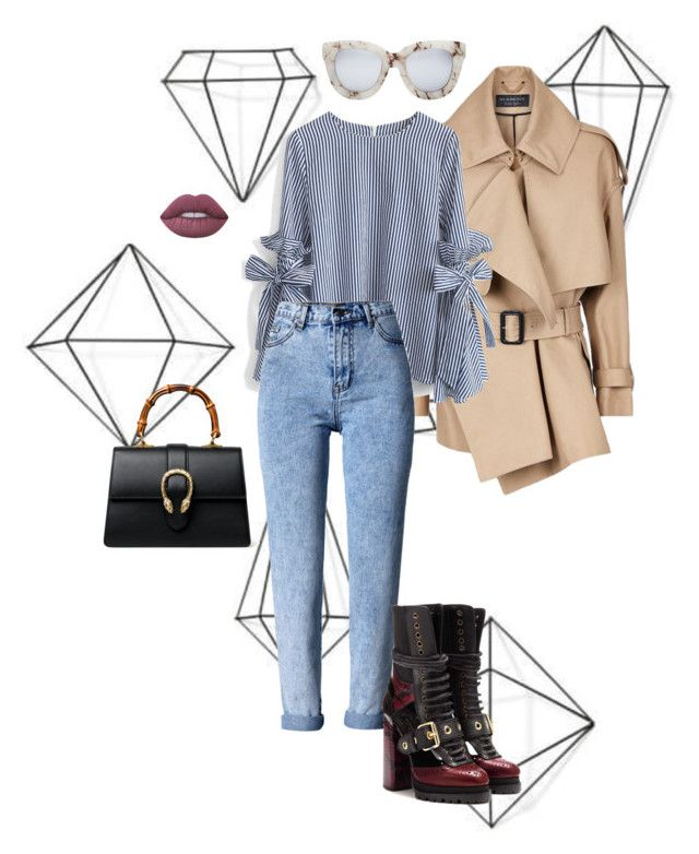"""""""Camel spring"""" by trend-anonymous on Polyvore featuring Umbra, Burberry, Quay, Lime Crime, Gucci, Chicwish, WithChic, fashionset, polyvoreeditorial and officeOutfit"""