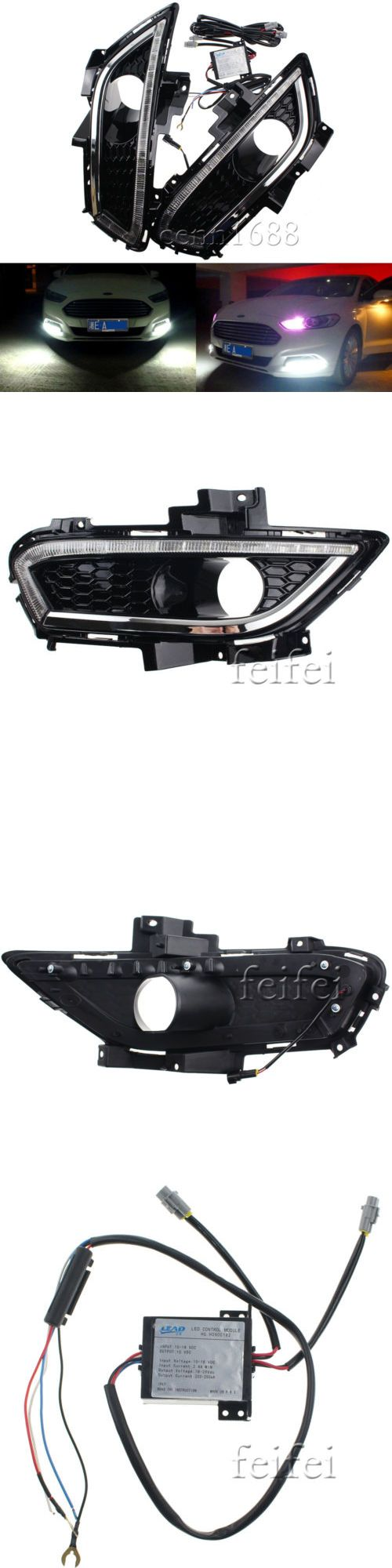 Motors parts and accessories 2x for ford mondeo fusion drl 2013 2014 led daytime running
