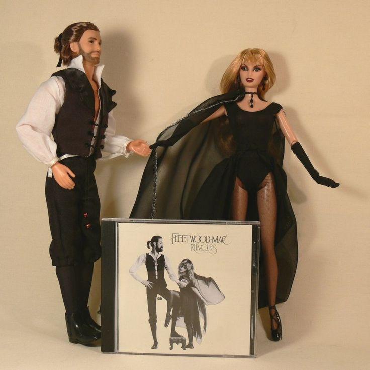 Fleetwood Mac RUMOURS ALBUM Stevie Nicks-Mick Fleetwood LTD EDITION CUSTOM DOLLS #Mattel #CustomDollsFleetwoodMac