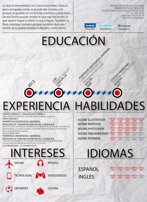 Andrés, de Colombia, nos envía su #currículum. ¿Qué te parece?  ¡Envíanos tus #ideas, #anuncios, #ilustraciones, #tarjetasdevisita, #currículum, etc.) a info@adaspirant.com y las promocionaremos en nuestro portal, facebook, twitter y pinterest!