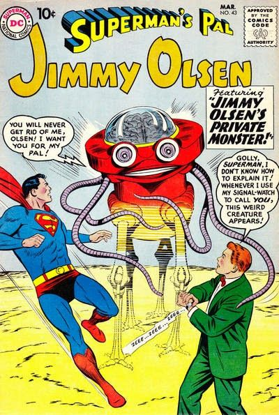 The Superman Fan Podcast: Episode #297 Part I: Superman Family Comic Book Cover Dated March 1960: Superman's Pal Jimmy Olsen #43!