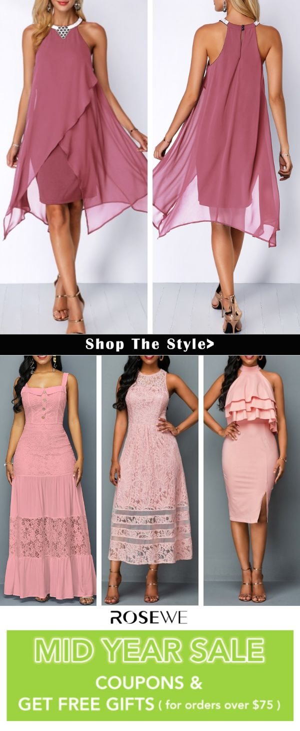 Hot Sale & Homecoming Dress Asymmetric Hem Chiffon Overlay Embellished Neck