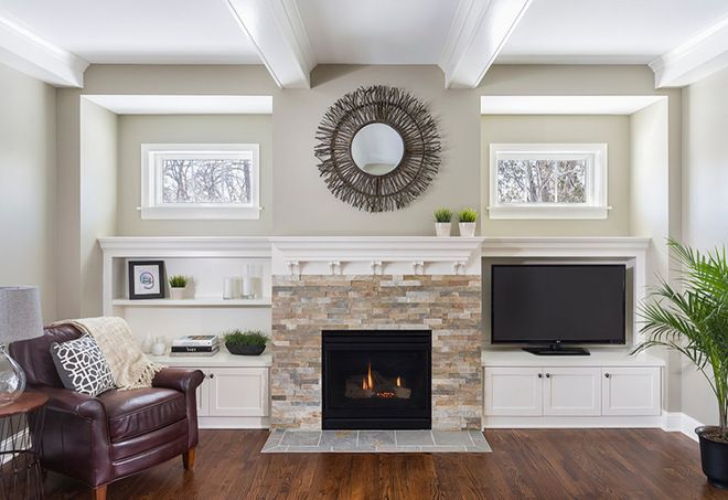 benjamin moore abalone | traditional family room by Allison Landers
