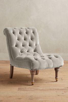 Homeinnovationok.com likes.....Anthropologie Velvet Orianna Slipper Chair,