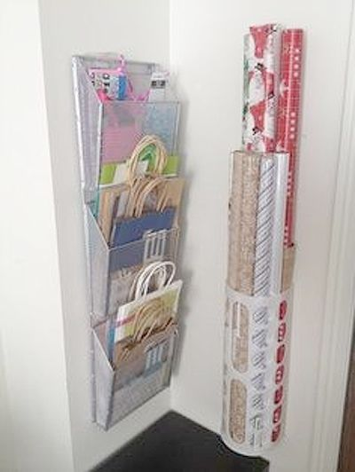 Get your gift wrapping supplies under control with these genius organizing ideas!