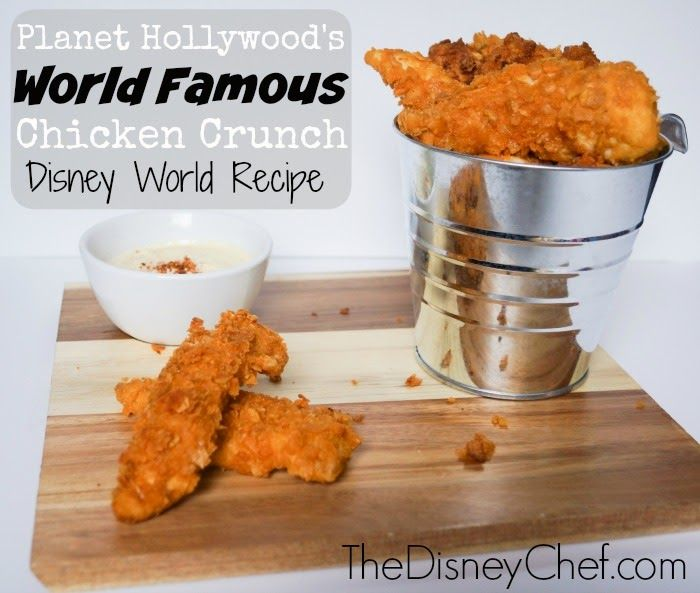 Are you craving a sweet and savory fried chicken with crunch?  Daydreaming about a trip to Disney World and you need a splash of magic on your dinner table?  This recipe for World Famous Chicken Crunch from Planet Hollywood is just what you need.  Easy-to-make and with few ingredients, this classic is sure to be a dinnertime favorite! World Famous Chicken Crunch - Planet Hollywood