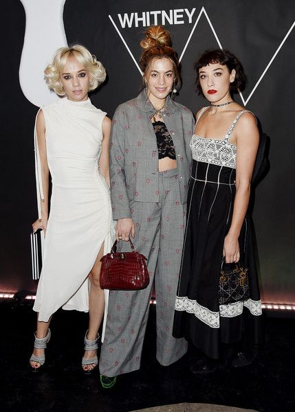 (L-R) Margot, Chelsea Leyland and Mia Moretti attend the 2017 Whitney Art Party at The Whitney Museum of American Art on November 14, 2017 in New York City.