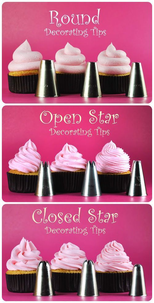 Easy Cupcake Icing Tutorials #tips #frosting #decorating #decoration #tutorial #piping