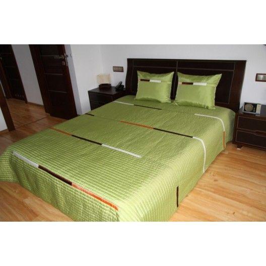 Luxusní přehozy na postel v olivové barvě - dumdekorace.cz