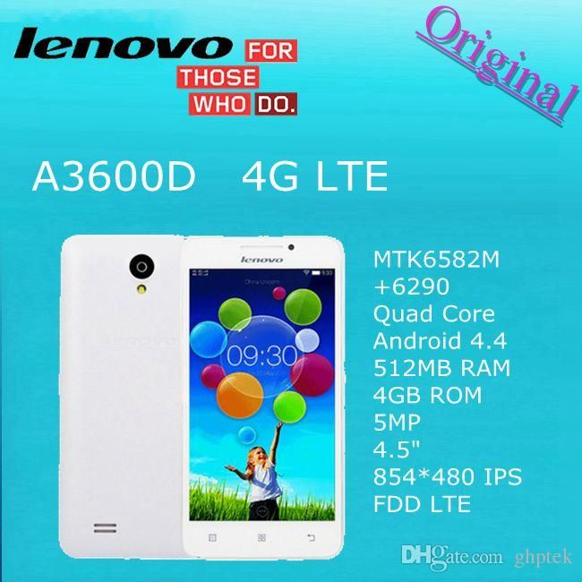 Smart Phone Cheap Original Lenovo A3600 A3600d Mtk6582m + 6290 Quad Core Android 4.4 512mb Ram 4gb Rom 5mp 4.5 854*480 Ips Fdd Lte 4g Phone Best Android Mobile From Ghptek, $57.9| Dhgate.Com