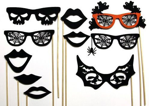 bewitch your guests with these campy halloween photo booth props - Halloween Photography Props