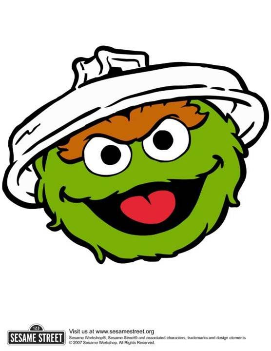 oscar the grouch; image to be used for trash can.