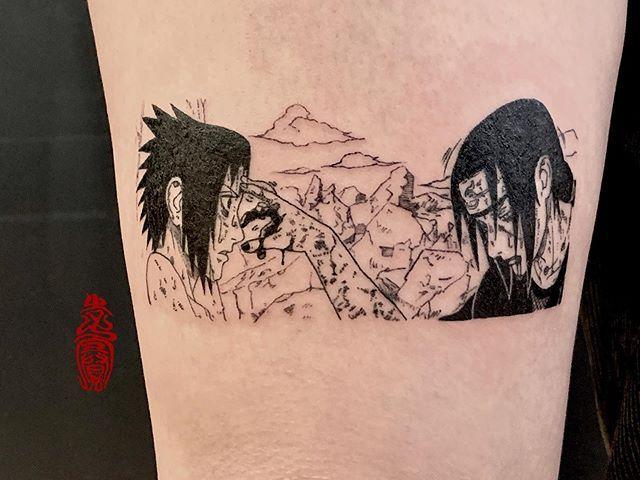 Single Needle Manga Tattoo Tattoos Manga Tattoo Naruto Tattoo