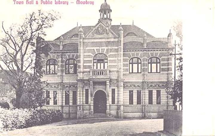 Town Hall & Public Library, Mowbray - c1900