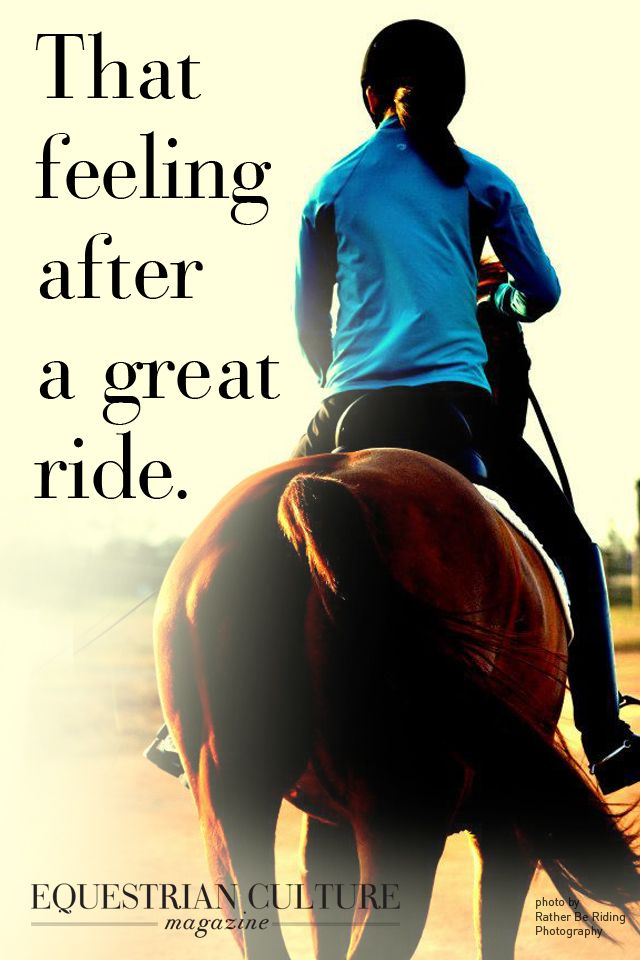 ❤️ So true..that feeling after ANY ride...cuz all rides are great, no matter what happens :)