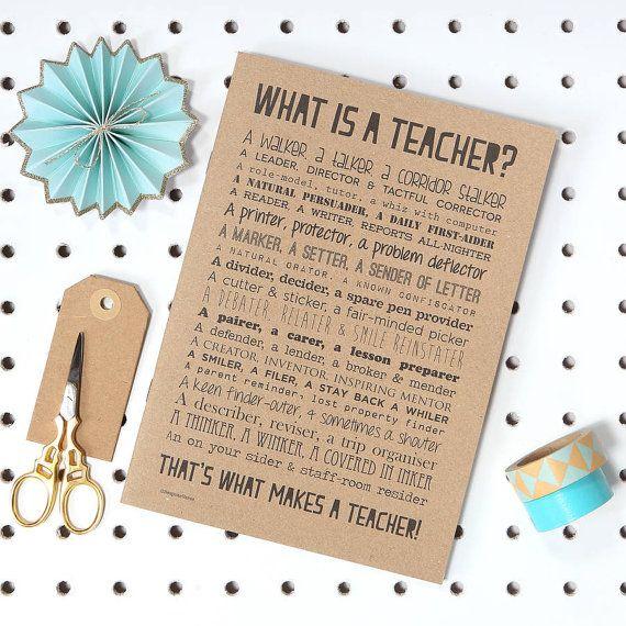 Teacher Poem Slim Notebook Teacher Leaving Gift by bespokeverse