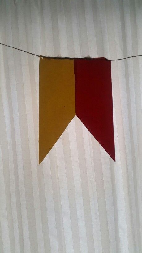 House Flag Bunting. Feat. GRIFFINDOR