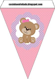 Pink & Purple Bear Party Printables