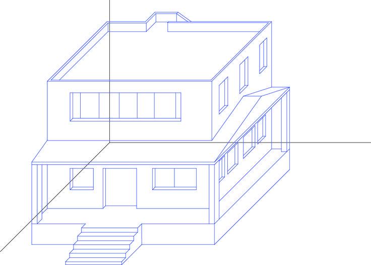 Resultado de imagen para perspectiva caballera de una casa