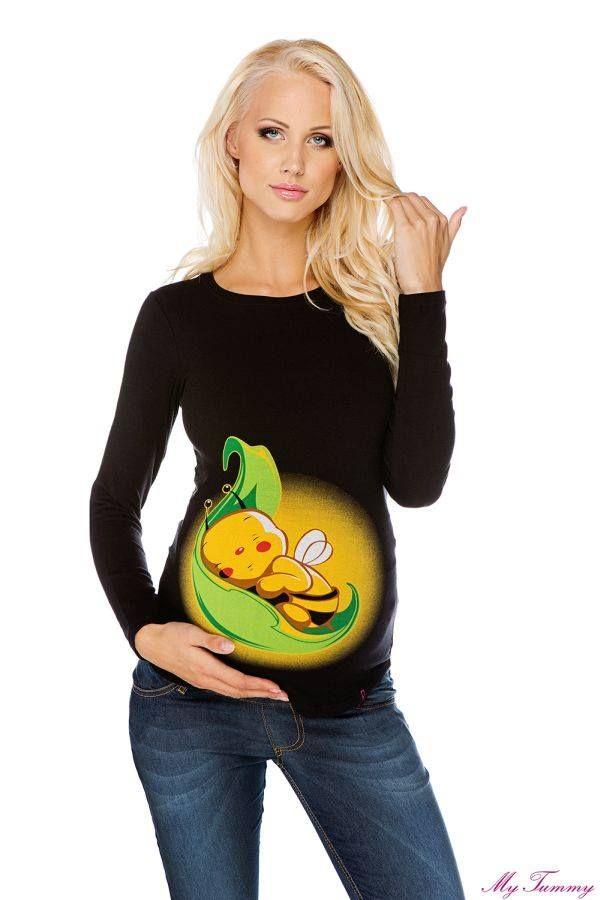 maglietta premaman ape nera 1