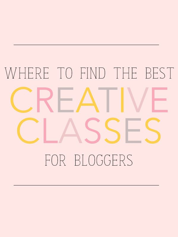 Where to find the best creative classes for bloggers. Don't forget your local public library! Your library card can unlock dozens of free online classes!
