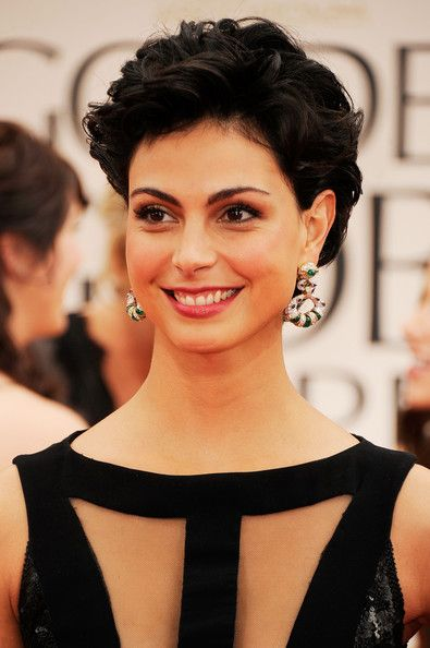 Short Curls Lookbook: Morena Baccarin wearing Short Curls (9 of 23). Morena Baccarin wore her short locks in sexy tousled curls at the 69th Annual Golden Globe Awards.