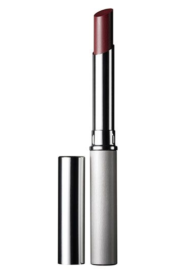 Clinique Almost Lipstick available at Nordstrom.  In Black Honey.  Flatters all complexions magically.