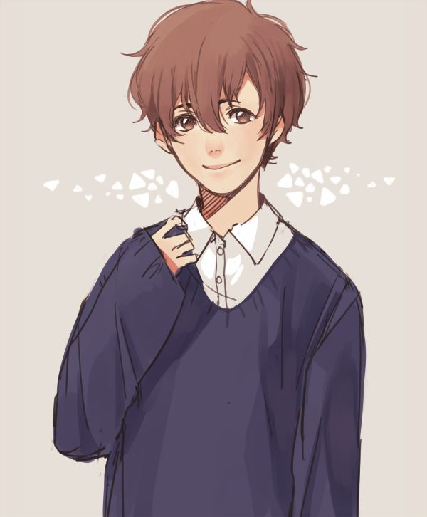 Anime girl in oversized sweater