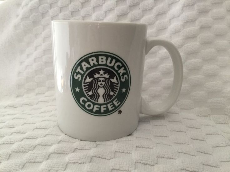Starbucks Company Classic White Ceramic Siren Logo Coffee 12 oz Mug 2006 #Starbucks