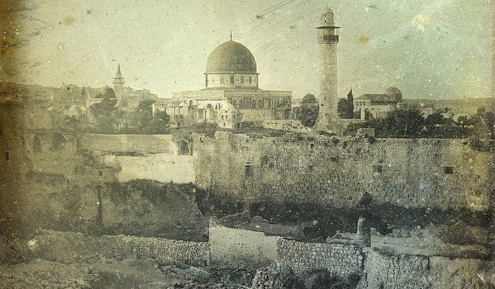 First photographs ever taken of Jerusalem, in 1844. Source:  http://www.smithsonianmag.com/smart-news/see-first-photographs-ever-taken-jerusalem-180949473/