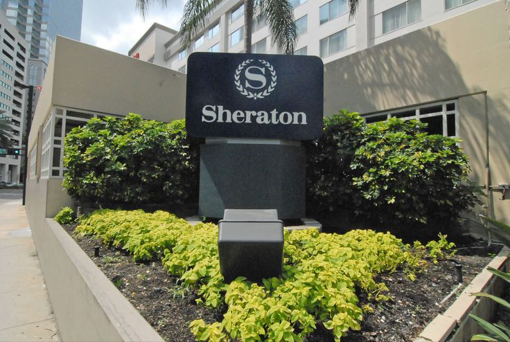 Side garden at the Sheraton in downtown Tampa.