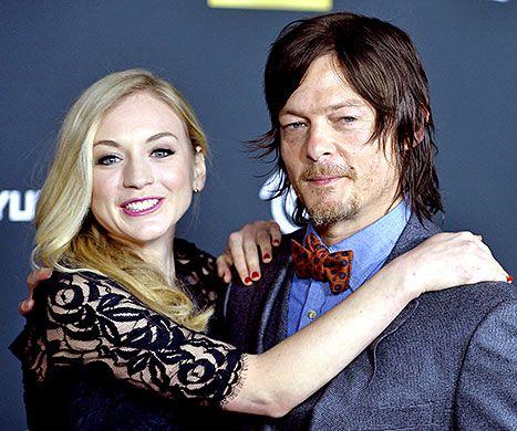 The Walking Dead's Norman Reedus, Former Costar Emily Kinney Are Dating! Read more: http://www.usmagazine.com/celebrity-news/news/the-walking-deads-norman-reedus-costar-emily-kinney-are-dating-2015176#ixzz3dMPv2rO8