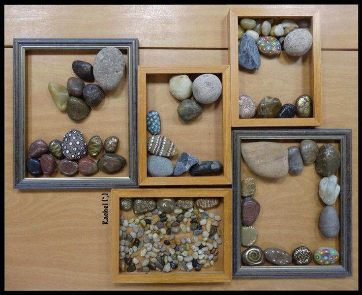 """Transient art with different stones from Rachel ("""",)"""