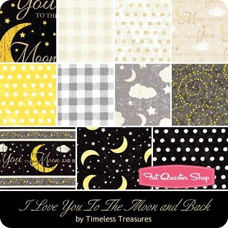 I Love You To The Moon and Back Fat Quarter Bundle Timeless Treasures Fabrics - Fat Quarter Bundles  | Fat Quarter Shop