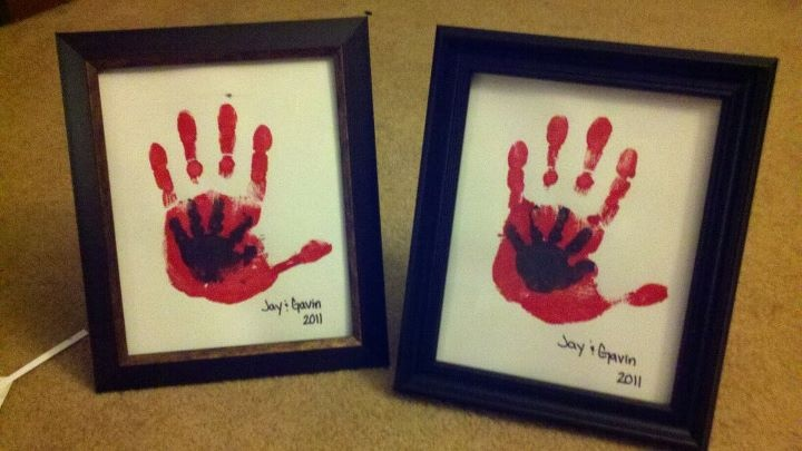 Daddy and babies hands